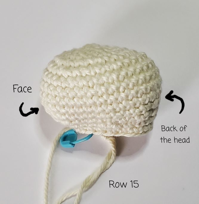 turtle head image for free crochet pattern: sammie the turtle