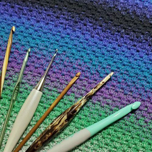 crochet hooks example for blog post
