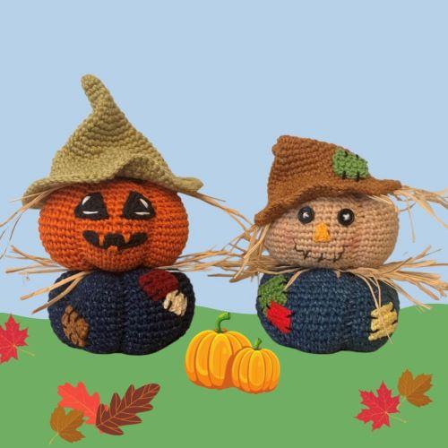 jorge & jack scarecrow pumpkins for blog post