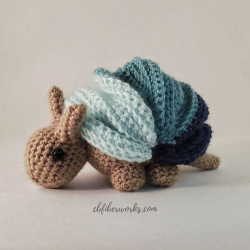 anton the armadillo example for how to put a spooky spin on your amigurumi