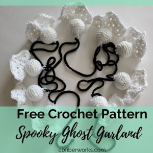 ghost garland for free crochet pattern: spooky ghost garland