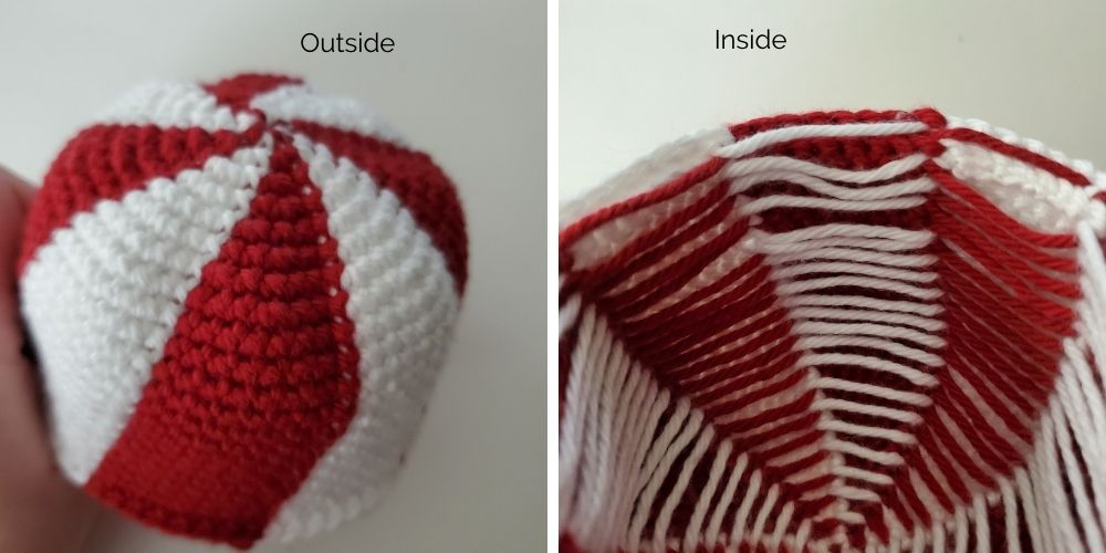 example image for how to use fair isle crochet in amigurumi