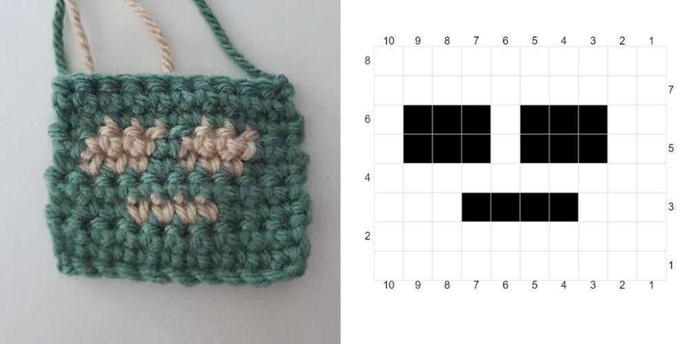 flat fair isle example for how to use fair isle crochet in amigurumi