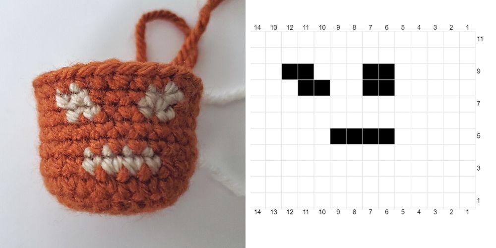 fair isle example for how to use fair isle crochet in amigurumi